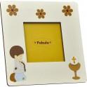Cornice Fotografica da Tavolo stampata su legno - personalizzabile - modello B - Prima Comunione