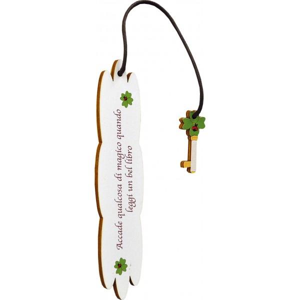 Segnalibro Frase su legno con pendaglio - personalizzabile - modello B