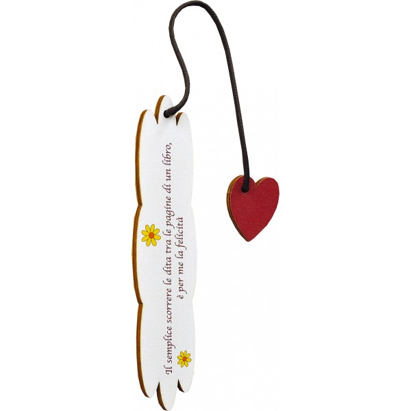 Segnalibro Frase su legno con pendaglio - personalizzabile - modello E
