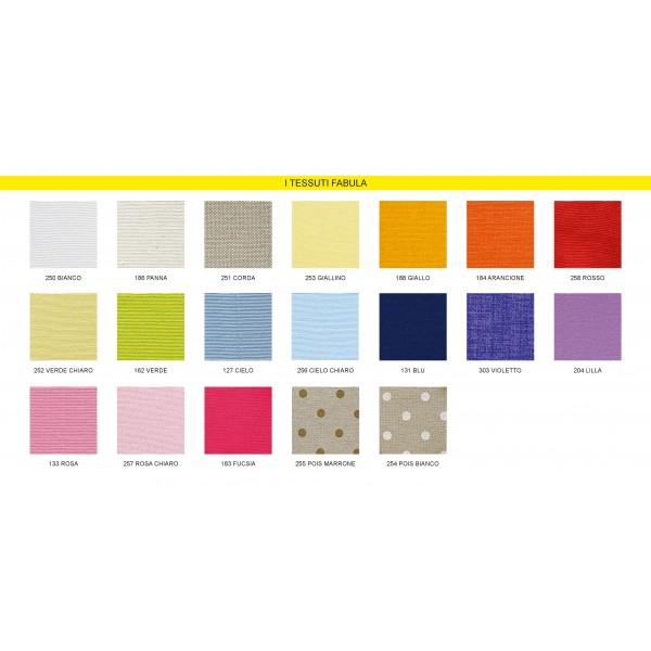 Sacchettino per confetti o potpourri in tessuto e applicativo in legno a scelta fra quelli progettati e realizzati da Fabula