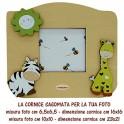 Zebra e Giraffa - Cornice in Legno Sagomata foto 10x10