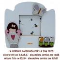 Angelina - Cornice in Legno Sagomata foto 10x10