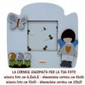 Angelino - Cornice in Legno Sagomata foto 10x10