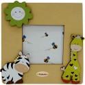 Zebra e Giraffa - Cornice Piatta 10x10 da Tavolo