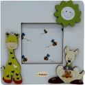 Giraffa e Canguro - Cornice Piatta 10x10 da Tavolo