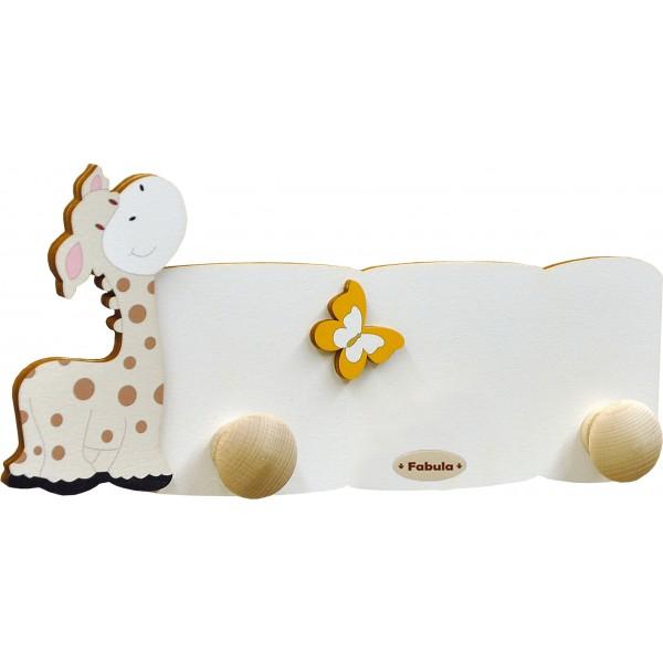 Fabula - Appendino da Parete Mini in Legno per Bambini - colore Bianco - modello A