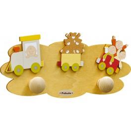 Fabula - Appendino da Parete Mini in Legno per Bambini - colore Sabbia - modello H