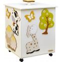 Fabula - Portagiochi 40 in legno Bianco - dimensioni cm 41x55x39- Cod. Art. 161003 - Linea Albero Verde