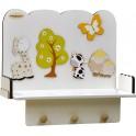 Fabula - Mensola 50 in legno Bianco - dimensioni cm 50x35x23- Cod. Art. 161007 - Linea Albero Verde