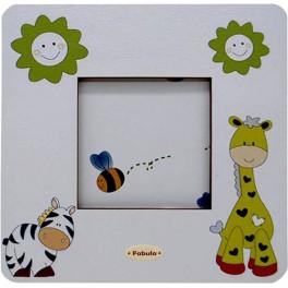 Zebra e Giraffa - Cornice Fotografica da Tavolo stampata su legno - personalizzabile