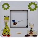 Giraffa e Canguro - Cornice Fotografica da Tavolo stampata su legno - personalizzabile