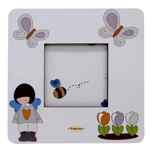 Angelino - Cornice Fotografica da Tavolo stampata su legno - personalizzabile