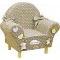Fabula - Poltrona Baby rivestita in tessuto - dimensioni cm 40x70x40 - Cod. Art. 162008 - Linea Dolce Cuore