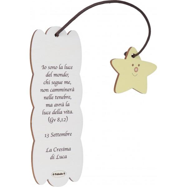 Fabula - Segnalibro Frase in Legno per santa cresima - personalizzabile - modello 160155-024