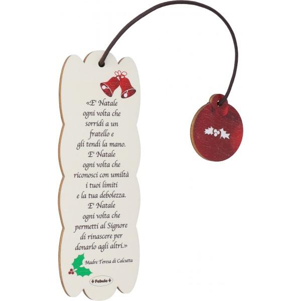 Fabula - Segnalibro Frase in Legno per natale - personalizzabile - modello 160155-039