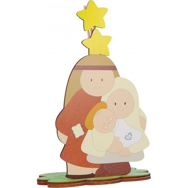 Fabula - Profumatore per ambiente in legno Sacra Famiglia - Cod. Art. 187101A - Linea Natale