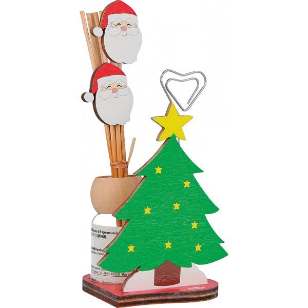 Fabula - Profumatore per ambiente Mini in legno Albero di Natale con supporto metallico - Cod. Art. 187102C - Linea Natale
