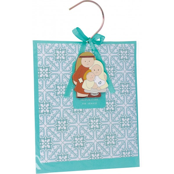 Fabula - Busta Profuma Armadio con Gancio + magnete in legno natalizio Personalizzabile - Cod. Art. 187115B - Linea Natale