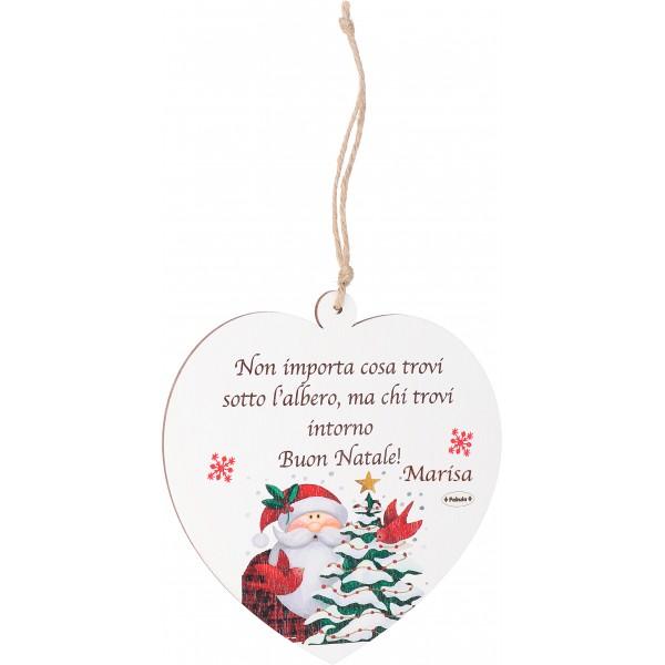 Albero Di Natale Frasi.Decorazioni In Legno Personalizzabile A Forma Di Angelo Renna Stella Cuore Casetta Da Appendere All Albero Di Natale