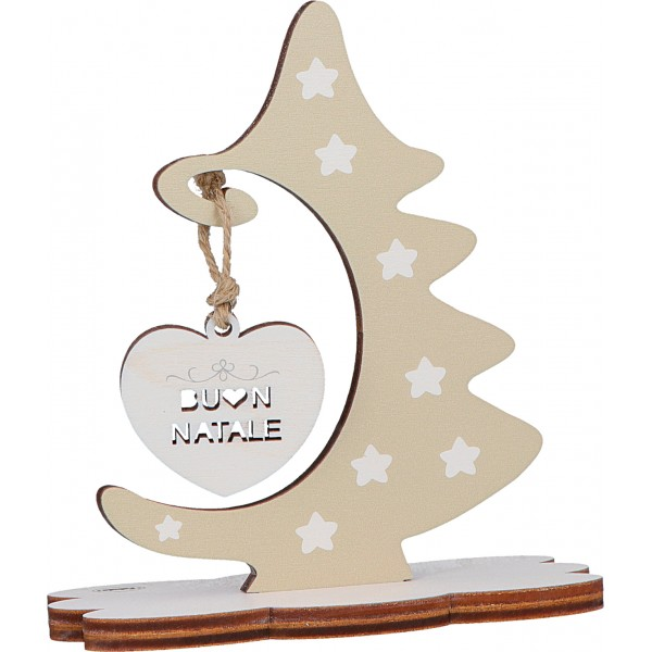 Albero Di Natale Frasi.Fabula Albero Di Natale Da Tavolo In Legno Personalizzabile Con Vs Frase Di Auguri Modello 187132a
