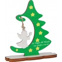 Fabula - Albero di Natale da tavolo in legno - personalizzabile con vs frase di auguri - altezza cm 15 - Cod. Art. 187132D