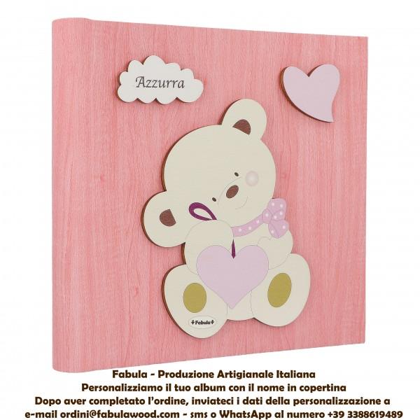 Album foto bimba con orsetto personalizzato:  Raccoglitore per foto - Fabula