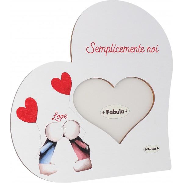 Fabula San Valentino - Cornice Cuore da Tavolo in legno - personalizzabile - modello A - 14 Febbraio