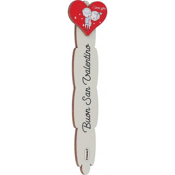 Fabula San Valentino - Stegnalibro Stecco con applicazione - modello I - personalizzabile