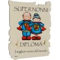 Fabula Festa dei Nonni - Porta strofinacci con 2 Ganci in legno naturale con dedica personalizzata - modello D