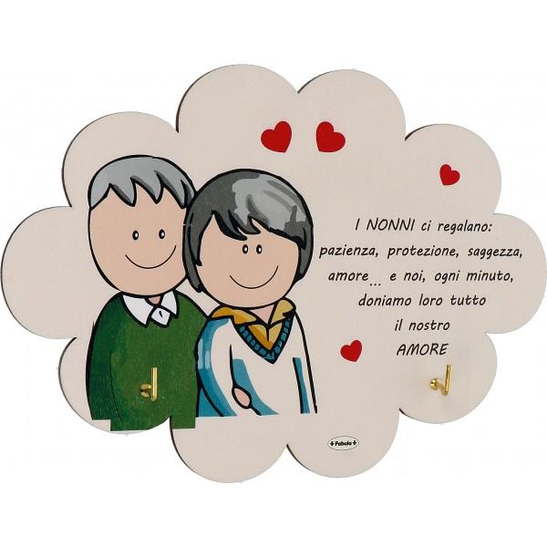 Lettera Anniversario Di Matrimonio Nonni.Porta Strofinacci Con 2 Ganci In Legno Delle Dimensioni Di Cm