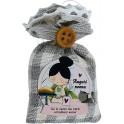 Fabula Festa dei Nonni - Mini Sacchetto Profumato al Lino + Magnete in legno Nonna Personalizzabile - Cod. Art. 198318N