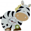 Zebra Orologio Sagoma Mini da Parete