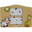 Zebra e Giraffa - Cornice Tavolo Sagomata 2 posti