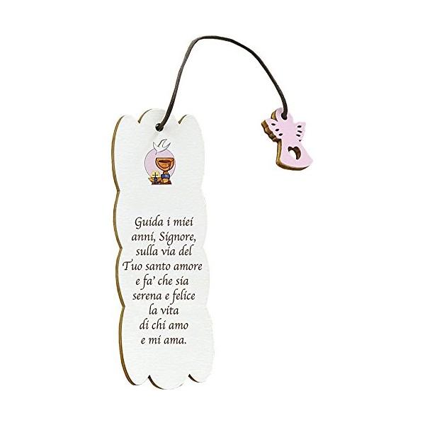 Calice Rosa - Segnalibro Frase personalizzabile - Prima Comunione