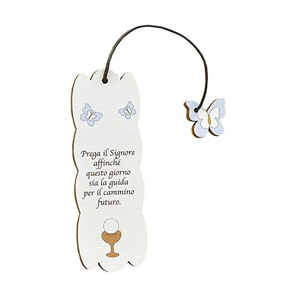 Farfalla Rosa - Segnalibro Frase personalizzabile - Prima Comunione
